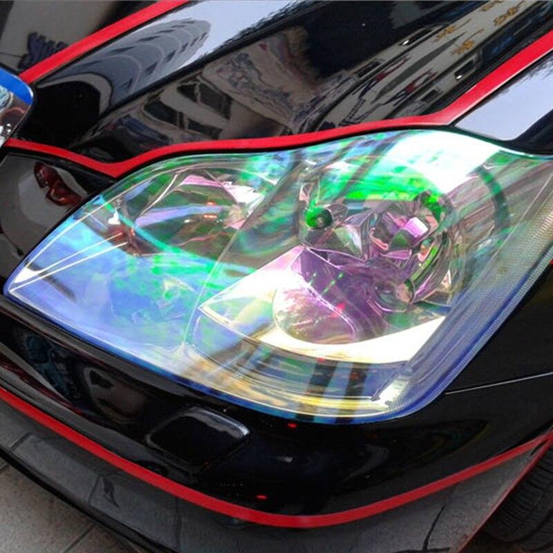 120*30 cm Chameleon Pellicola Del Faro Stile Auto Adesivi Trasparenti adesivos per le Luci Auto Pellicola del vinile Auto Body Sticker