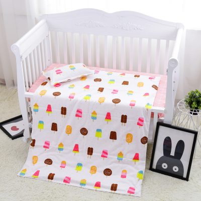 Promotion! 3PCS Cotton Crib Bed Linen Kit Cartoon crib bed linen crib baby Bedding set ,Duvet Cover/Sheet/Pillow Cover