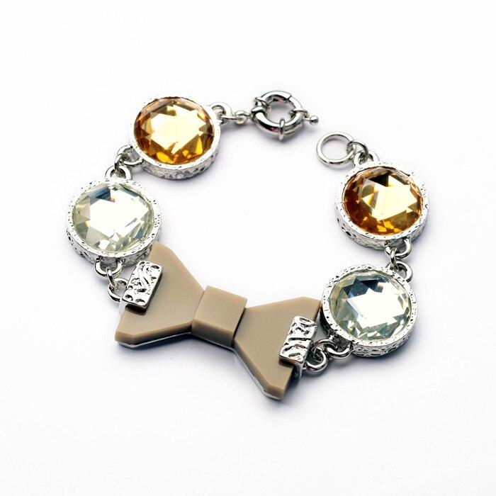 New Fashion Women's Accessories Crystal Bracelet Female All-match Bow Bright Infinity Bracelet