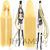 150CM Noragami Bishamon Long Golden Synthetic Hair Cosplay Wig Halloween Costume Party Wigs + Wig Cap