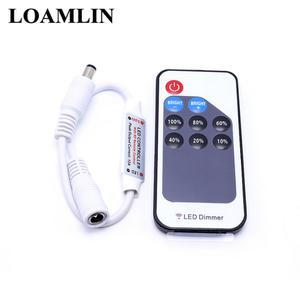 Led-Controller Remote-Dimmer Single-Color 2835 3528 5-24V DC with for 5050