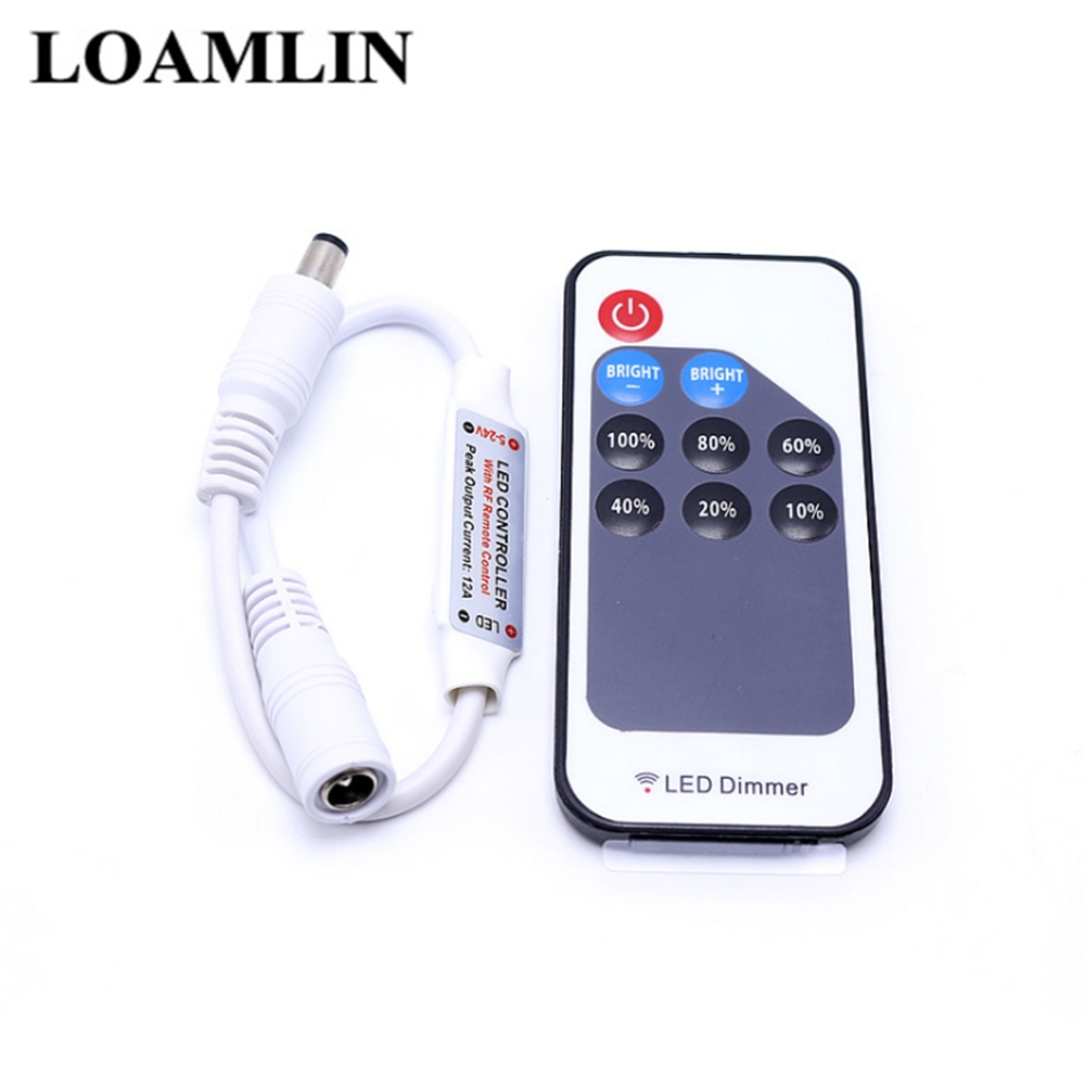 Single Color Led Controller With Led Remote Dimmer DC5-24V For 5050 3528 2835  Single Color Led Strip