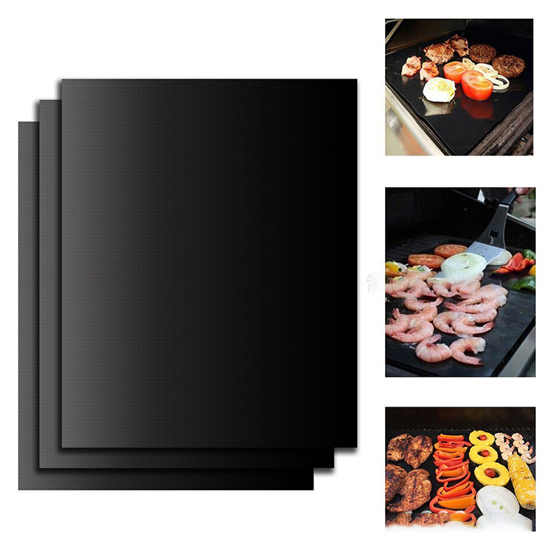 Ptfe Non-stick BBQ Grill Pad Barbecue Baking Pad Reusable Teflon Cooking Plate 40 * 33cm For Party Grill Mat Tools New