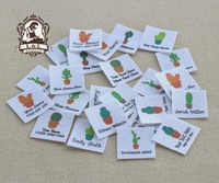 96 Custom Logo Labels Children S Clothing Tags Name Tags White Organic Cotton Labels Cactus Labels