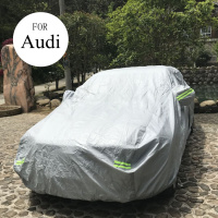 Reflective Strip and Thicken Cotton Car Cover for for audi a4 b6 b7 b8 a3 a6 c5 c6 q5 q7 Outdoor Sun Protection Covers for Car