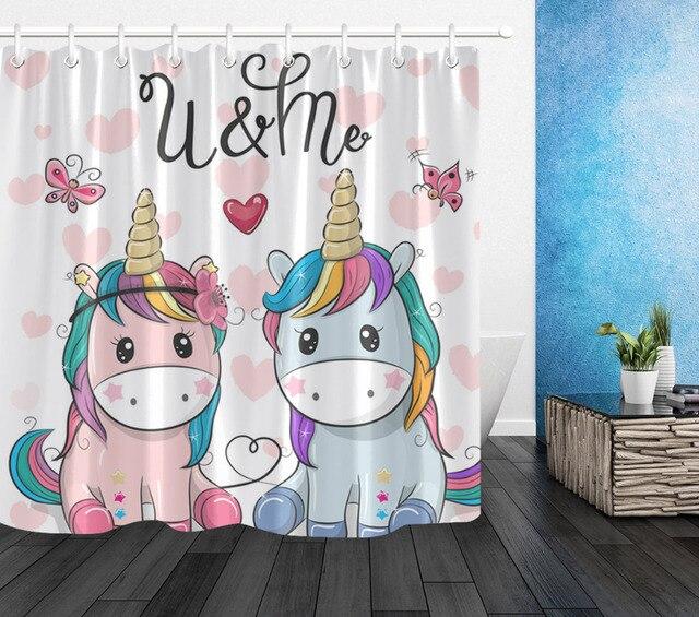 Funny Unicorn Shower Curtains