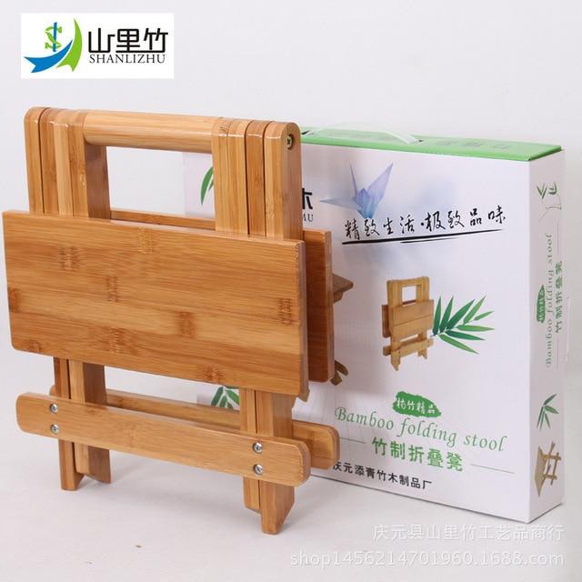 Bambú heces de pesca plegable cuadrada silla taburete silla de pesca ...