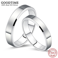 Wholesale 925 Silver Jewelry Ring Simple Smooth White Gold Plated Couple Wedding Set 925 Sterling