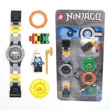 NINJA minifigures Super hero ninja mini Building blocks Original box Watch Bricks Compatible font b lepines