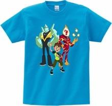 Boys T Shirts Ben 10 Protector of Earth T-Shirts Clothing Cartoon Short Sleeved Shirt Top Tees Children M