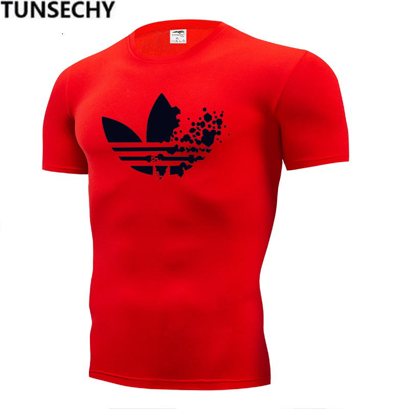 2019 New Summer Cotton Funny T Shirts Short Sleeves T-shirt Men Fashion Tide Brand Print Red T Shirt Men Tops Tees Men's T-shirt