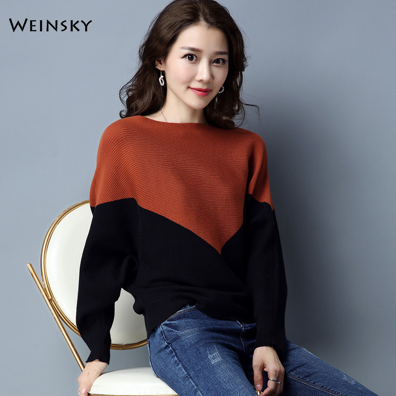Casual Style Women Solid Thin Knitted Sweater And Pullovers Batwing Sleeve Ladies Fashion Tops Female Autumn And Winter 2019