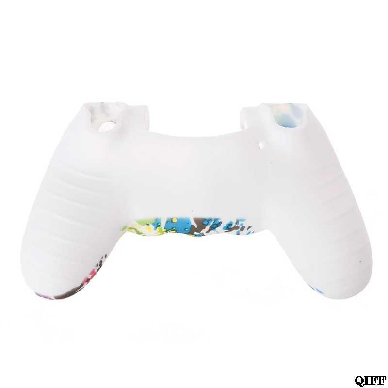 Envío Directo y venta al por mayor protector de silicona Multicolor antideslizante 2 tapas de Joystick para controlador 4 PS4 APR28