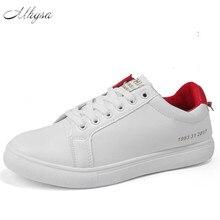 Mhysa 2018 Для мужчин; повседневная обувь классический мужской моды на шнуровке Туфли без каблуков Черные, белые, красные зеленый Для мужчин плоская подошва комфорт кроссовки S233