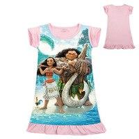 Z Y 3 8Years Moana Dress Girls Clothing Kids Dress Trolls Clothes Summer Dress Carnival Costume