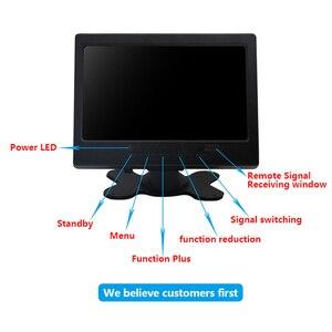 Image 2 - Monitor de tela touch portátil 7 polegadas, monitor vga hdmi, com tela hd de 1024x600 resolução entrada av,
