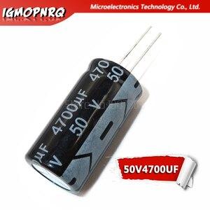 2 stücke elektrolytkondensator 50V4700UF volumen 4700UF 50V 18*35MM