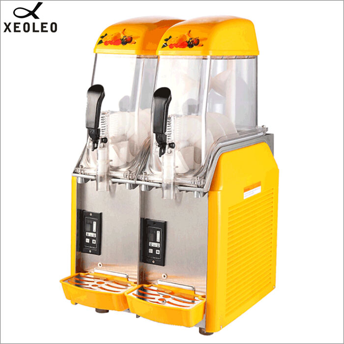 XEOLEO Double Tank Slush Machine 12L*2 Ice Slusher 900W Snow Melting Machine Smoothies Granita Machine Commercial Smoothie Maker