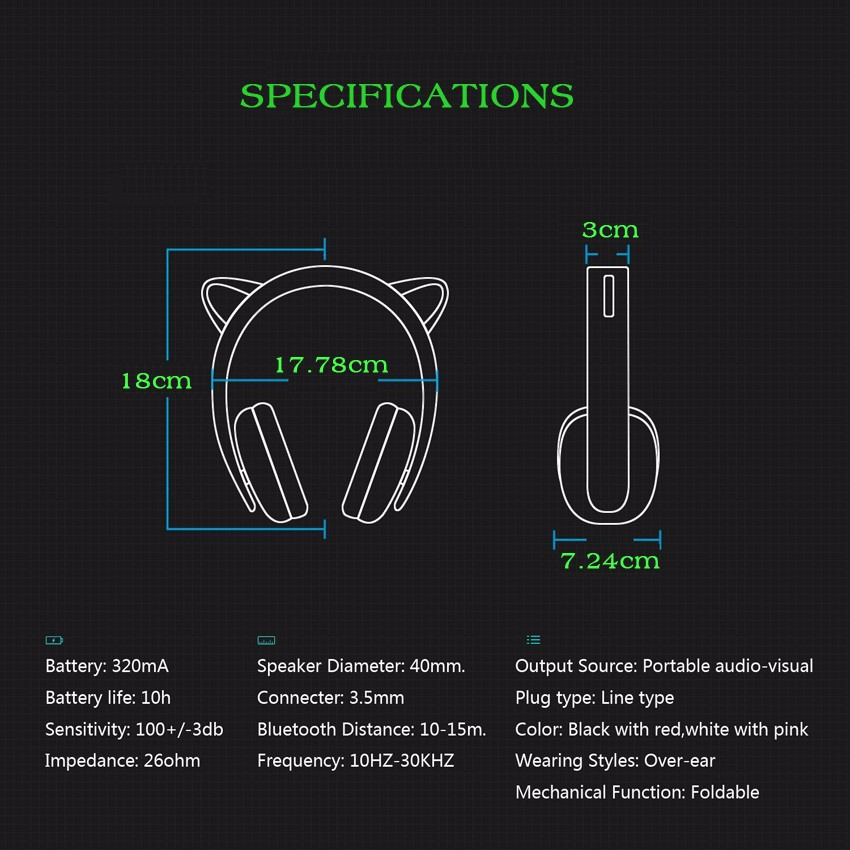wireless cat ear headphones (1)