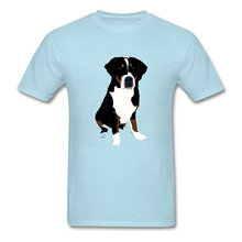 Top Quality Discount T Shirts For Men Greater Swiss Mountain Dog Slim Fit 2018 New Summer Cute Animal Print T-Shirts