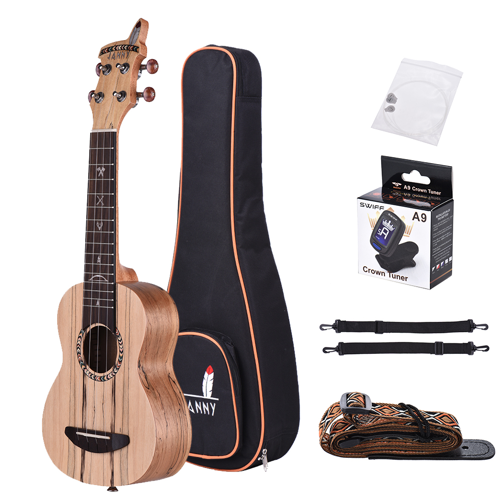 Ukulele Hot Sale Ammoon Colorized 24 Acoustic Soprano Ukulele Ukelele Uke Wooden 18 Frets 4 Strings Okoume Neck Rosewood Fingerboard In Pain