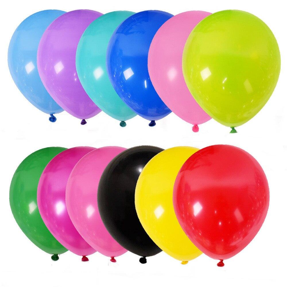 Balões de hélio de 12 polegadas, balões de látex de 10 polegadas, de festa de aniversário e casamento, decoração rosa, 100 peças fornecimento branco da festa do global