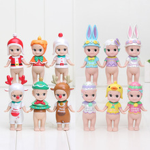 6pcs/set Sonny Angel Figures Christmas Series Easter Series PVC Action Figures Collectible Model Toys christmas gift 8cm