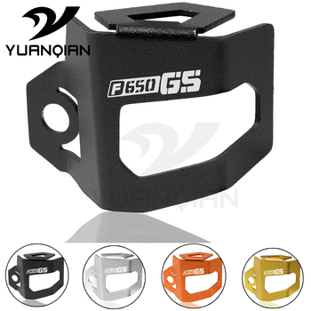 цена на For F650GS F650 GS Motorcycle CNC Rear Brake Fluid Reservoir Guard Cover Protect For BMW F650GS 2013-2018 F650GS/Dakar 2013-2018