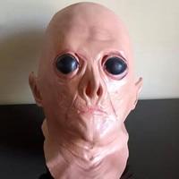 UFO Alien Hoofd Volledige Gezicht Latex Partij Masker Halloween Dance Party Kostuum Maskers Theater Speelgoed Fancy Jurk Festival Geschenken