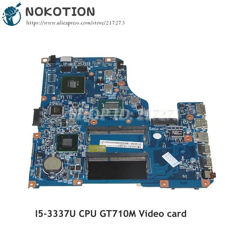 NOKOTION 48.4TU05.04M NBM6W11007 NB.M6W11.007 For Acer aspire V5 471 V5 571 Laptop Mtherboard SR0XL I5 3337U CPU GT710M GPU