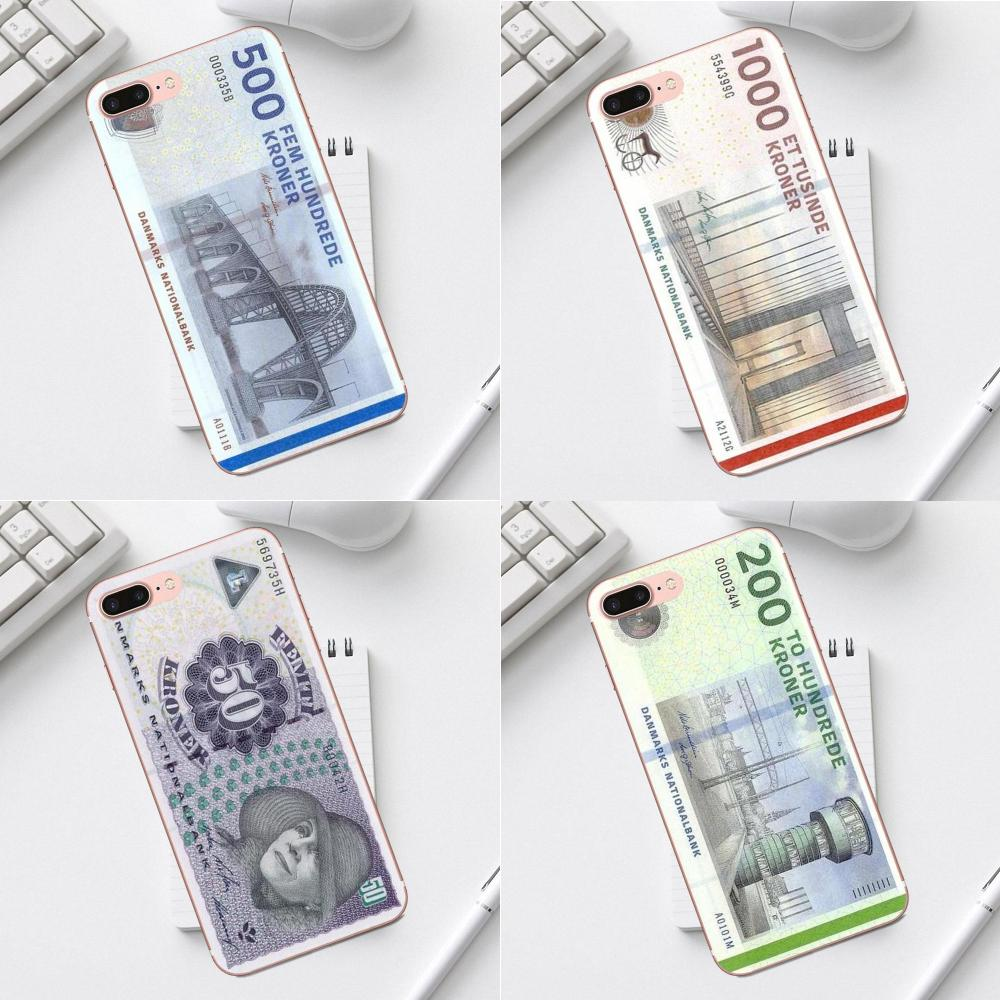 Qdowpz Danmark Danish Krone For Galaxy Alpha Core Prime Note 4 5 8 S3 S4 S5 S6 S7 S8 S9 Mini Edge Plus Soft TPU Case Mobile