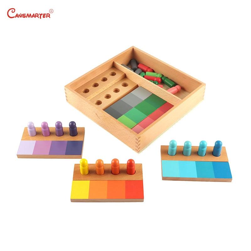 Montessori jouets éducatifs en bois couleur formation avec boîte enfants jeux préscolaires jouet Montessori sensoriel apprentissage aides SE054-3
