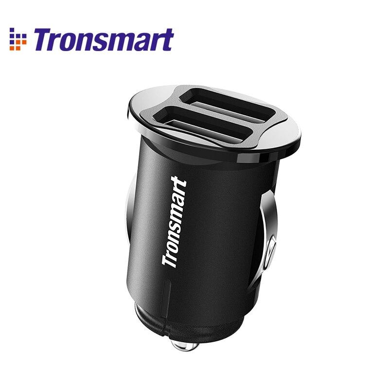 Tronsmart C24 Dual USB Автомобильное зарядное устройство USB зарядное устройство для телефона samsung для xiaomi для iphone 7 plus для телефона huawei - Тип штекера: USB car charger