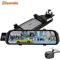 Bluavido 10 дюймов Зеркало DVR android ADAS Автомобильная камера GPS карты FHD 1080 P зеркало заднего вида видео регистраторы ночное видение регистраторы