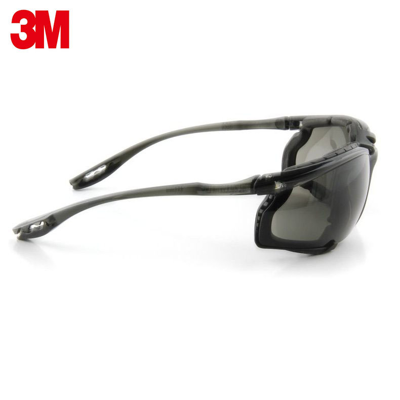 Image 4 - 3M 11873 goggles Genuine security 3M safety goggles Foam pad Frame Wearable earplugs Riding a sport protective glasses-in Safety Goggles from Security & Protection