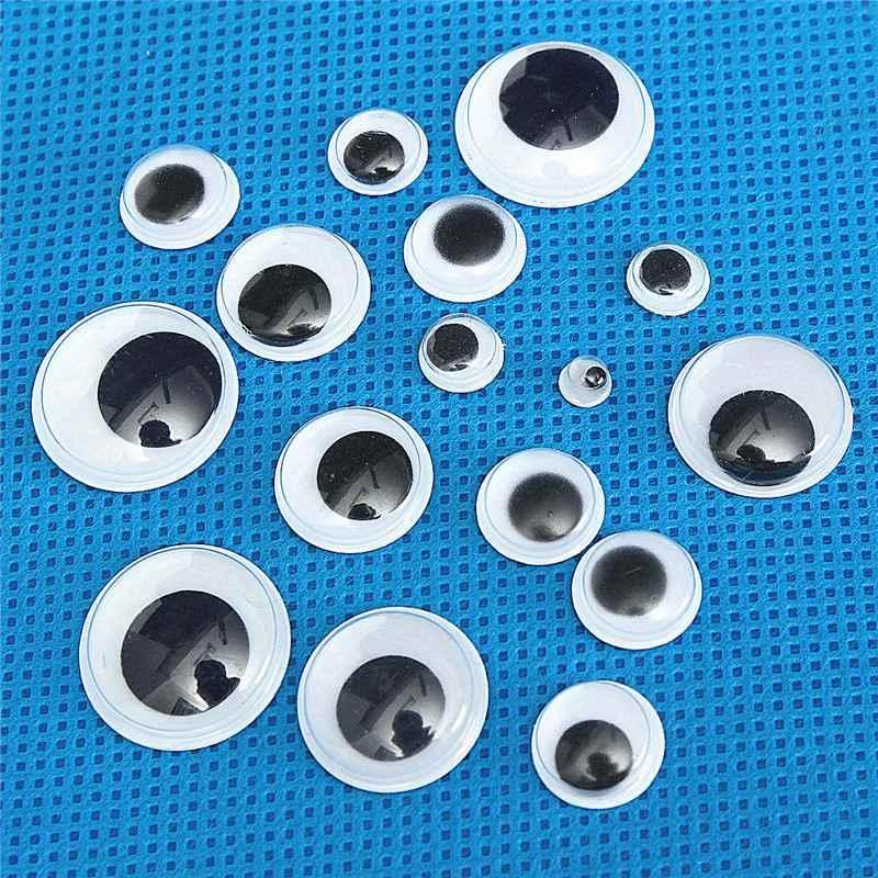 520 шт 5-20 мм акриловый пластик черный белый Wobbly Googly 3D куклы глаза самоклеющиеся предметы для скрапбукинга смешанный размер