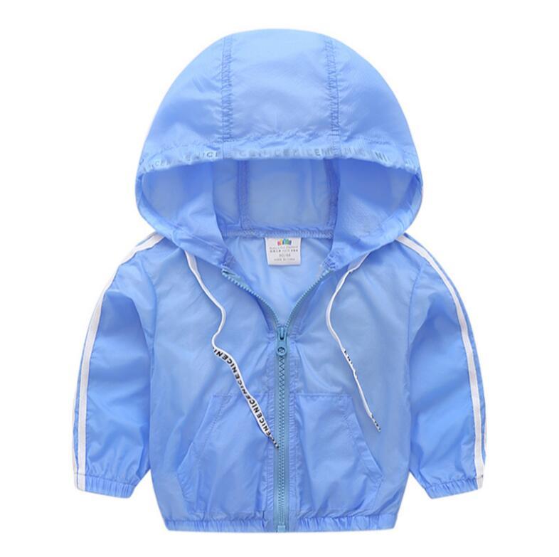 Baby Hooded Jacket 2018 Summer Korean New Boy Child Long Sleeve Rashwear 2T-8T