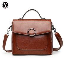Yirenfang 2018 Women Messenger Bags Spring New Retro Ladies Shoulder Bag Oil Wax Leather Luxury Handbags Women Bags Designer