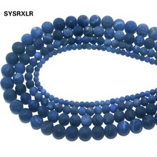 Wholesale Dull Polish Natural Stone Blue Sodalite Round Beads For Jewelry Making DIY Bracelet Necklace Material 4 6 8 10 MM