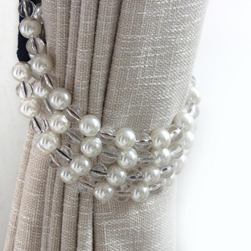 High Quality Pearl Curtain Tieback 1 Pair Hanging Balls