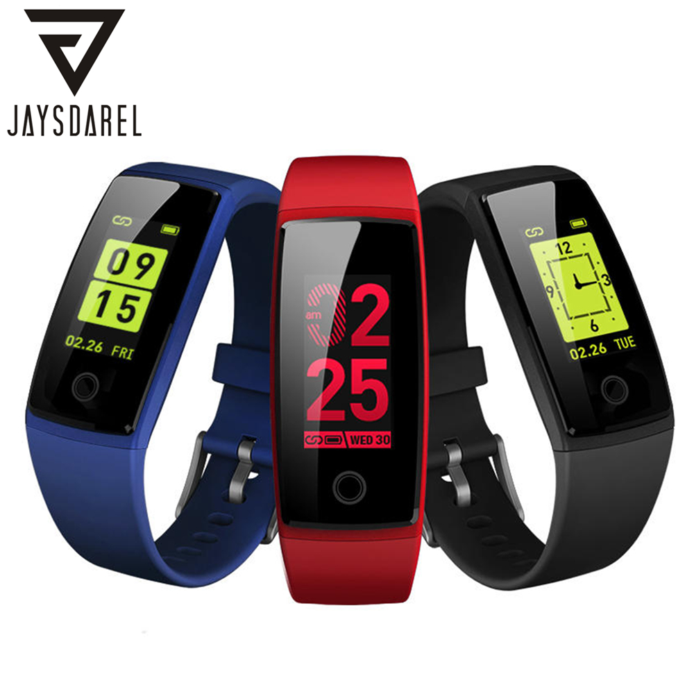 JAYSDAREL V10 Heart Rate Monitor Smart Watch Blood Pressure Wristband Pedometer Smart Bracelet Fitness Tracker for Android iOS