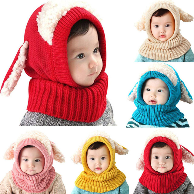 7f4bc4ed2 2018 Cute Warm Crochet Knit Hat Toddler Kids Girls Boys Baby Infant ...