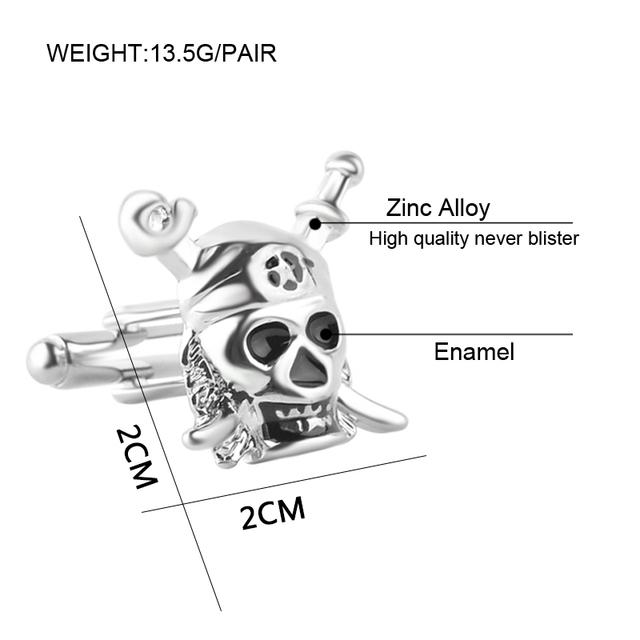 Classic Movie Pirates Of The Caribbean Skull Logo Cufflinks