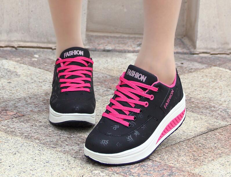 HTB1NXbbq JYBeNjy1zeq6yhzVXat Akexiya Fashion Women Height Increasing Summer Breathable Waterproof Wedges Sneakers Platform Shoes Woman Pu Leather Casual Shoe