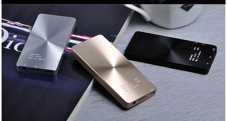 Brand Idealist Metal MP3 MP4 Player 4GB/8GB/16GB Video Sport MP4 Flash HIFI Slim MP4 Video Player Radio Recorder Walkman Speaker 8