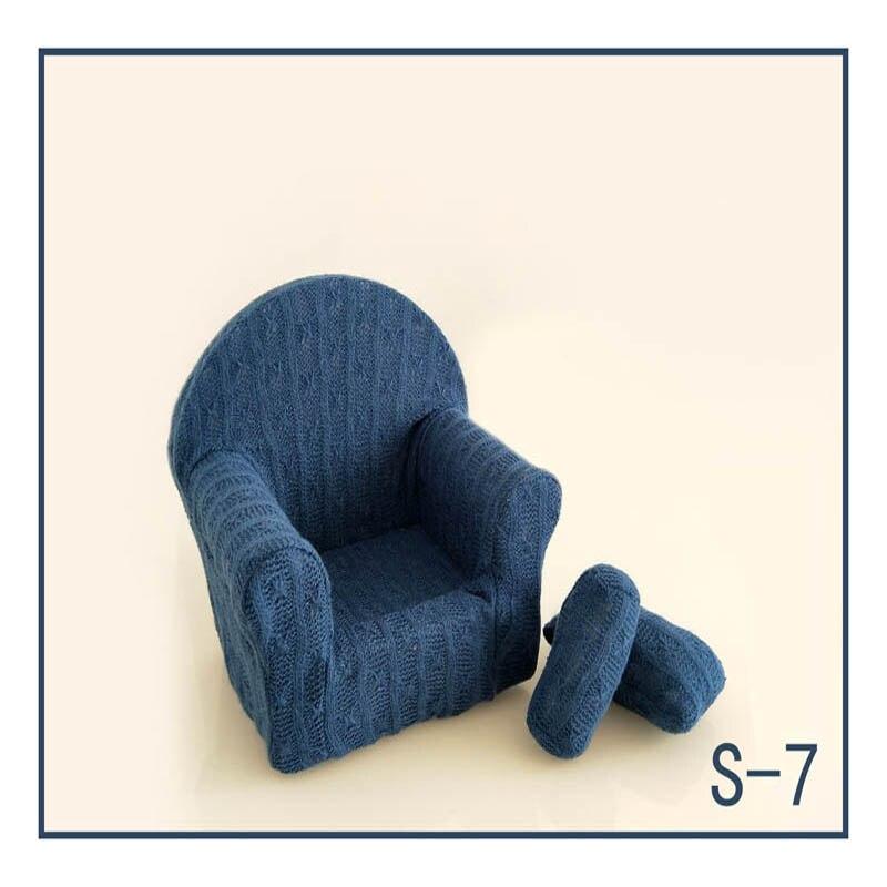 Реквизит для фотосъемки новорожденных, позирующий мини-диван, кресло на руку и 2 подушки, реквизит для фотосессии, студийные аксессуары для детей 0-3 месяцев - Цвет: 21