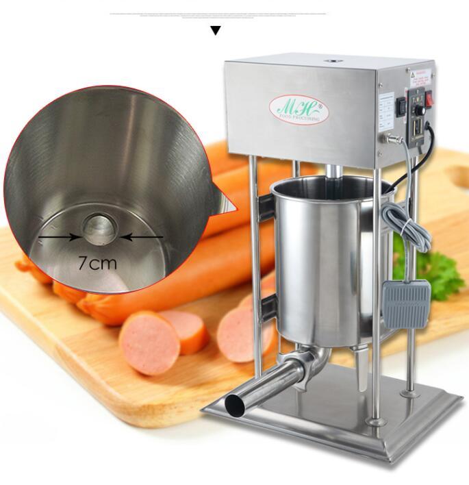 18 электрических Нержавеющаясталь Колбаса чайник руководство колбаса писака машина мясо, кофейное заполнение вертикальных коммерческих к