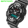SD734 SANDA Brand LED Military Watch Men Fashion Casual Electronics Wristwatches Sports Watches for Men Relogio Masculino