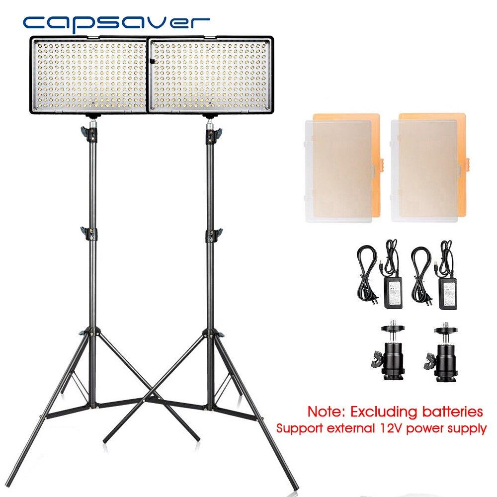 Capsaver TL-240S 2 dans 1 kit LED Vidéo Lumière Photographie Studio Kit D'éclairage avec Trépied CRI93 3200 k/5600 k Photo LED Panneau Lampe