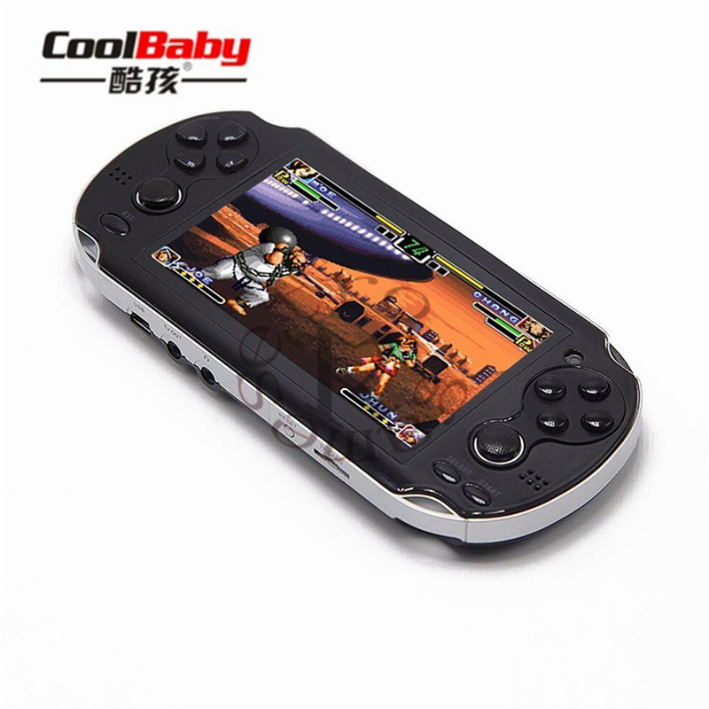 Dupla Roqueira Handheld Portátil Retro Video Game Console Gamepad 4.3 Polegada 4 GB/8 GB Suporte Para PSP Consol jogo Câmera de Vídeo E-book